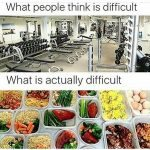 Exercise vs. Nutrition: Which is Harder?