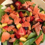 Strawberry Salmon Salad; Grilled Vegetables